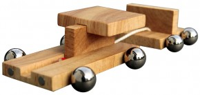 wooden car with trailor - mabrino car with trailor
